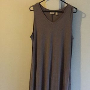 LOGO v-neck sleeveless layering dress